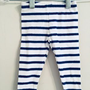 Other - EUC Carters leggings white and blue stripe 6 month